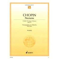 Partition Chopin Nocturne n°1 Opus 9 n°1 - Avignon