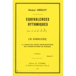 Michel Meriot Equivalences rythmiques volume 2 - Avignon