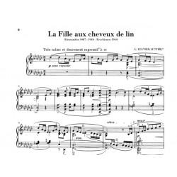 Partition piano La fille aux cheveux de lin - Avignon
