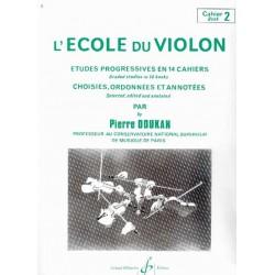 Pierre DOUKAN L'école du violon 2 - Le kiosque à musique, librairie musicale Française