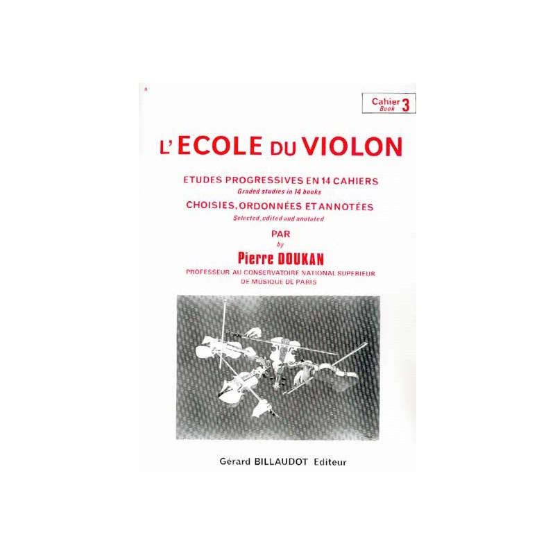 Pierre DOUKAN L'école du violon 3 - Le kiosque à musique, librairie musicale Avignon