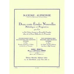 MAXIME-ALPHONSE 200 Etudes nouvelles pour cor - Le kiosque à musique Avignon
