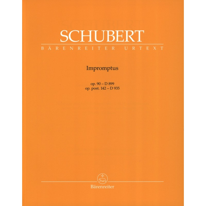 Partition piano Impromptus de Schubert - Le kiosque à musique Avignon