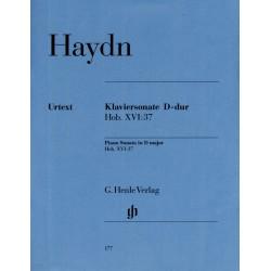 Partition piano Haydn Sonate Ré M Hob.XVI:37 - Le kiosque à musique