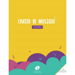Cahier de musique 12 portées forma A4 - Avignon