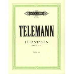 Partition Telemann 12 Fantaisies pour violon - Avignon
