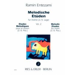 ENTEZAMI Etudes mélodiques volume 2 violon