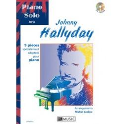 HALLYDAY JOHNNY - PIANO SOLO N°3 AVEC CD