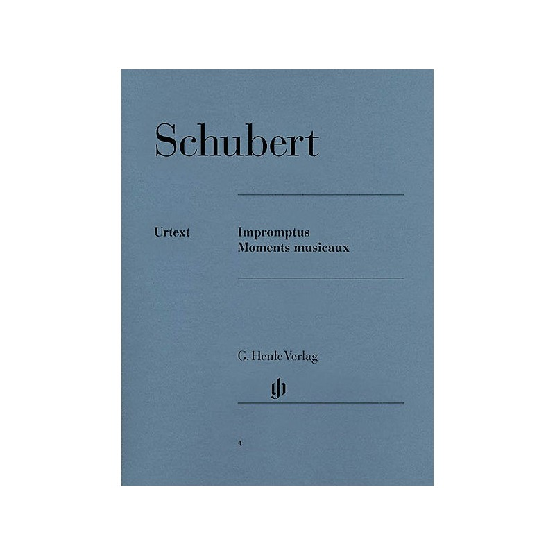 SCHUBERT IMPROMPTUS ET MOMENTS MUSICAUX PIANO URTEXT HENLE HN4