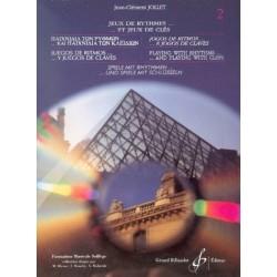 LIVRE JOLLET JEUX DE RYTHMES... ET JEUX DE CLES VOLUME 2 GB6043 LE KIOSQUE A MUSIQUE