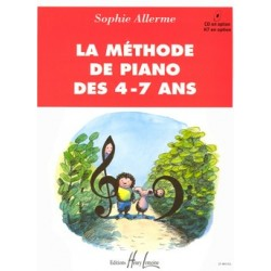 PARTITION PIANO LA METHODE DES PIANO DES 4-7 ANS HL25484 LE KIOSQUE A MUSIQUE